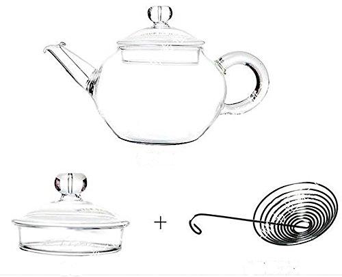Fullthings 耐熱ガラスティーポットステンレス製うず巻き型茶こし250 ml 2人用