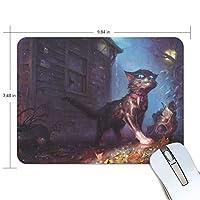 Anmumi マウスパッド 滑り止め 動物柄 猫 猫柄 油絵 19×25cm ゲームに適用 かわいい オシャレ レディース メンズ 子供 ゴム 実用性 パソコン対応