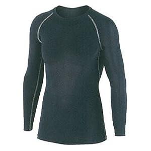 おたふく手袋 ボディータフネス 冷感・消臭 パワーストレッチ 長袖クルーネックシャツ JW-623 ブラック L