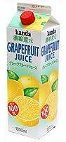 神田食品研究所 グレープフルーツジュース100% 1000ml×6本