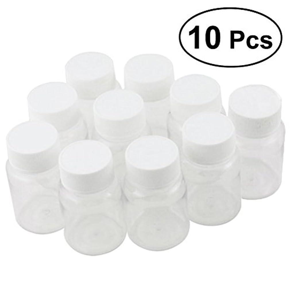 保証品熟達したULTNICE 小分けボトル 広口 クリア 詰め替え容器 薬保存 ビーズ収納 液体 10個セット