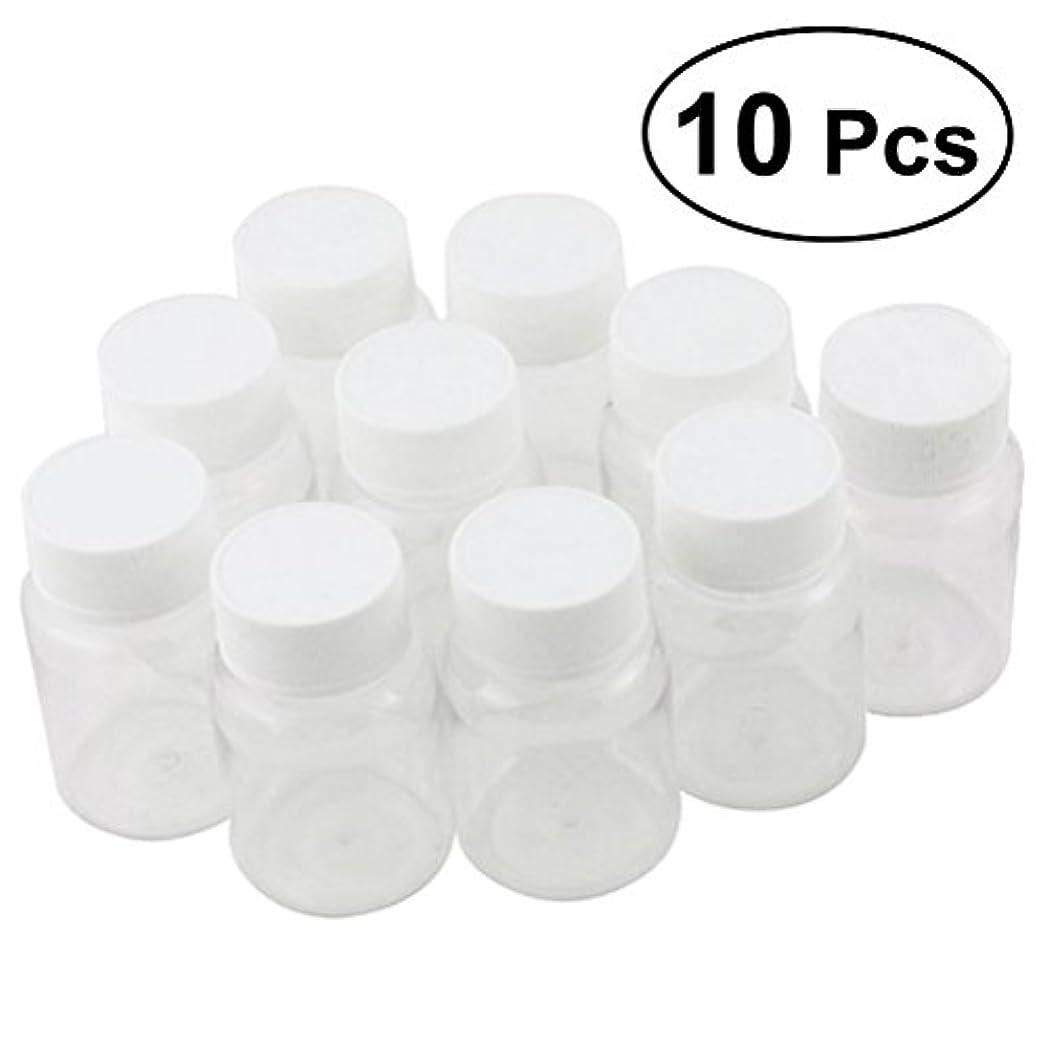 経験的締めるティームULTNICE 小分けボトル 広口 クリア 詰め替え容器 薬保存 ビーズ収納 液体 10個セット