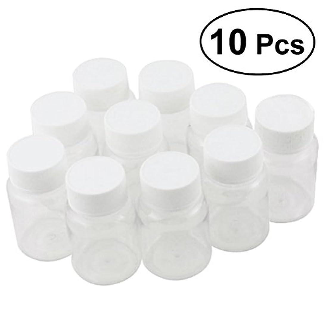 失礼な直径傾くULTNICE 小分けボトル 広口 クリア 詰め替え容器 薬保存 ビーズ収納 液体 10個セット