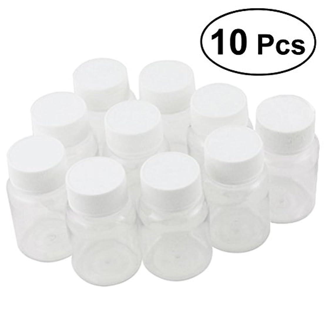 一口申請中ズボンULTNICE 小分けボトル 広口 クリア 詰め替え容器 薬保存 ビーズ収納 液体 10個セット
