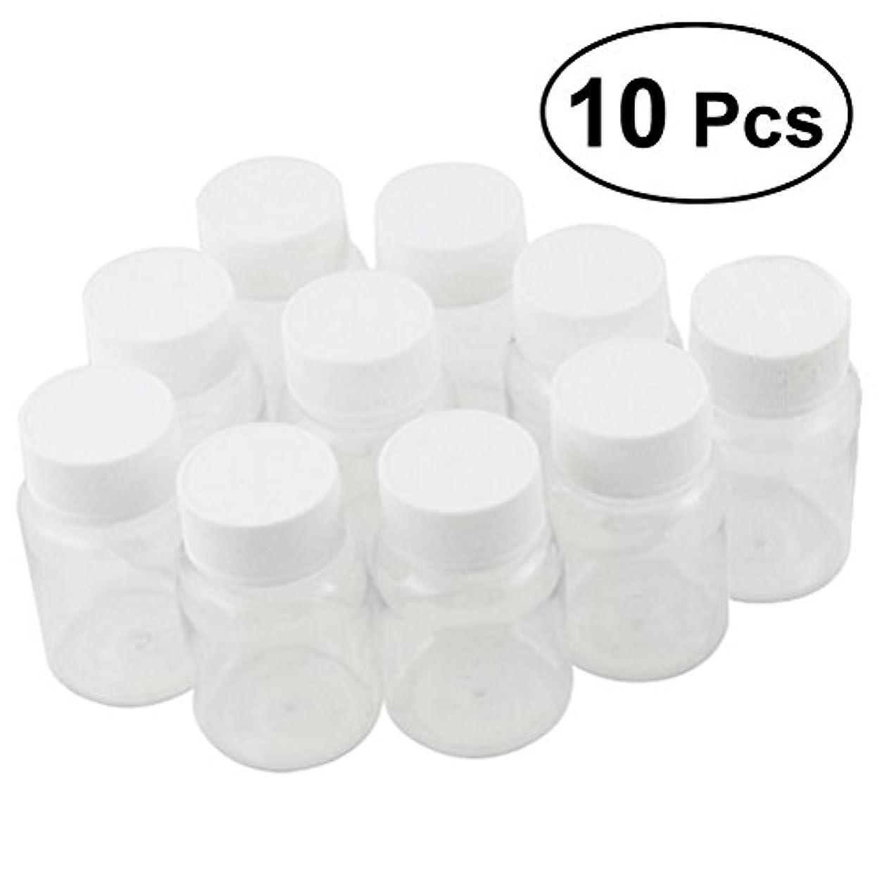 警報代わりにを立てるリビングルームULTNICE 小分けボトル 広口 クリア 詰め替え容器 薬保存 ビーズ収納 液体 10個セット