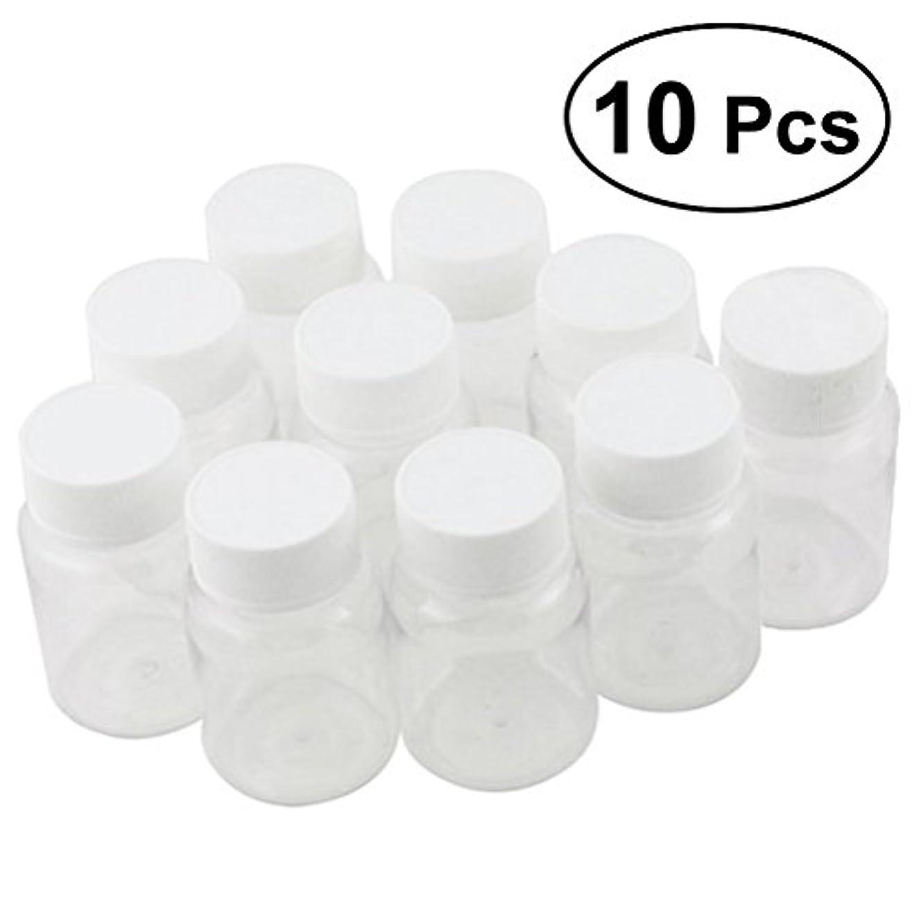 後悔ハウジング潜むULTNICE 小分けボトル 広口 クリア 詰め替え容器 薬保存 ビーズ収納 液体 10個セット