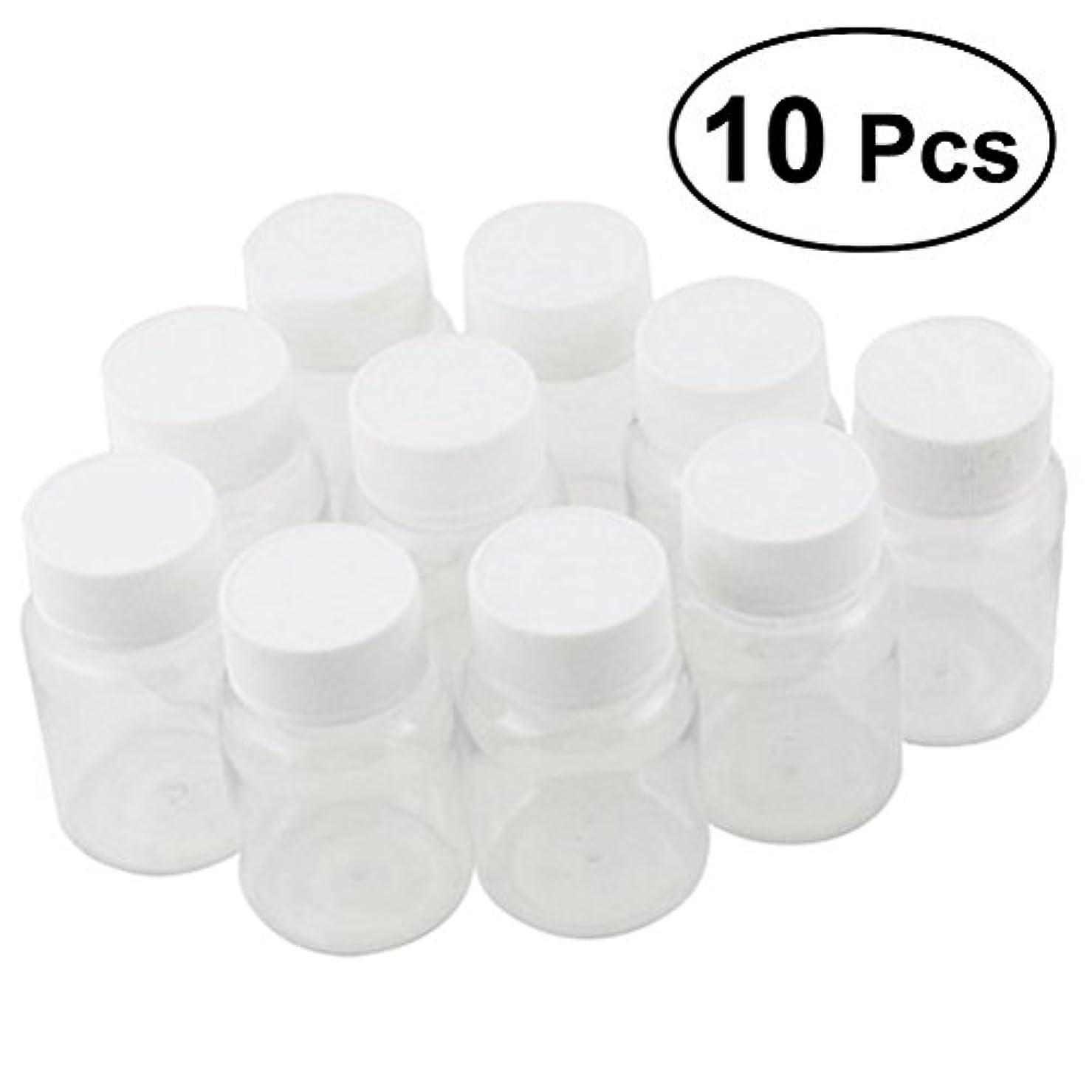 代替優遇プロポーショナルULTNICE 小分けボトル 広口 クリア 詰め替え容器 薬保存 ビーズ収納 液体 10個セット