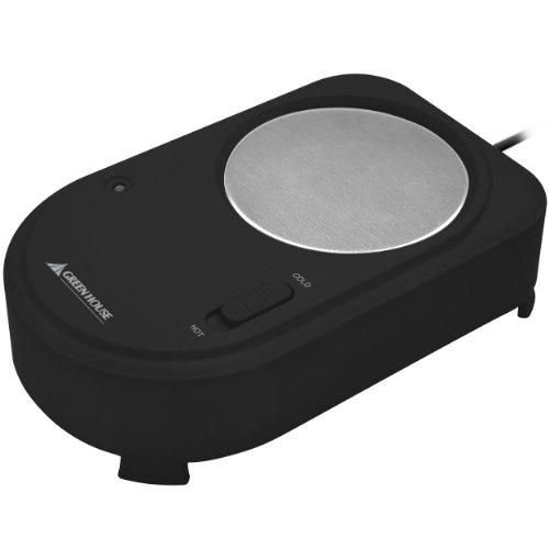 グリーンハウス 保冷/保温切り替え可能 USBカップウォーマー&クーラー ブラック GH-USB-CUP2K