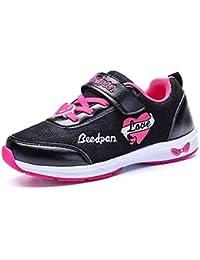 [GLYY] 女の子 子供靴 キッズ ジュニア スニーカー ベルクロ 通園 通学 運動靴 キッズ 女児 可愛い 靴 軽量 通気 防滑