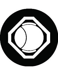 家紋シール 隅切り角に槌紋 布タイプ 直径40mm 6枚セット NS4-0994