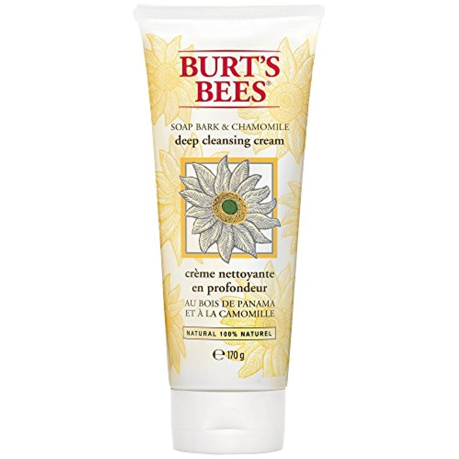 インドオートマトン文化バートのBees?ソープバーク??&カモミールディープクレンジングクリーム170グラム (Burt's Bees) (x6) - Burt's Bees? Soap Bark & Chamomile Deep Cleansing...