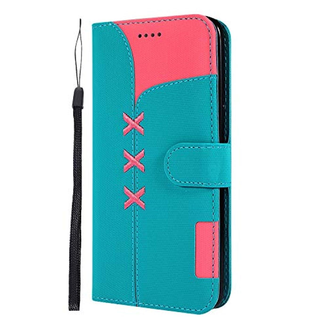 ブレーキさわやかおLomogo Galaxy S8+ / docomo SC-03J / au SCV35 ケース 手帳型 耐衝撃 レザーケース 財布型 カードポケット スタンド機能 マグネット式 ギャラクシーS8プラス 手帳型ケース カバー 人気 - LOGHU040219 青