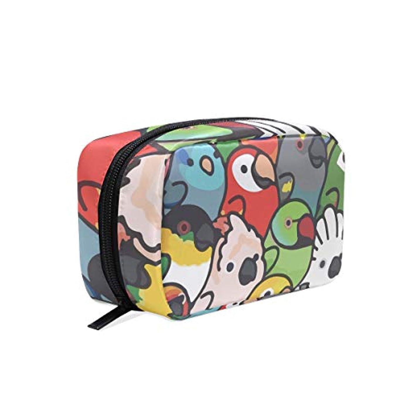 ヒット二次リルオウムのひな鳥 化粧ポーチ メイクポーチ コスメポーチ 化粧品収納 小物入れ 軽い 軽量 旅行も便利 [並行輸入品]
