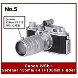 日本立体カメラ名鑑 CANONミニチュアコレクション [5.Canon IVSb + Serenar 135mm F4 I + 135mm Finder](単品)