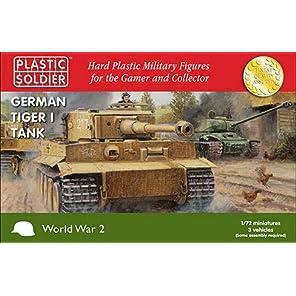 プラスチックソルジャー 1/72 ドイツ軍 タイガー1重戦車 前/中/後期型 車両3台分入り プラモデル PSCWW2V20032