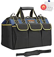 AIRAJ 16-in Waterproof Tool Bag, Wide Mouth Large Capacity Tool Storage Bag with Inside/Outside Pockets for Tools Storage fo