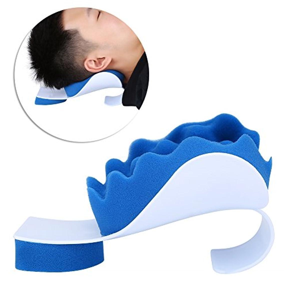 創始者なめらか本物マッサージ枕 首ストレッチャー ネック枕 ツボ押し リラックス ストレス解消 頚椎/首筋矯正 首筋押圧 肩こり 首こり 改善