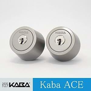 【2個同一】Kaba ace 3250R シリンダー MIWA LIXタイプ キー6本付属 シルバー色