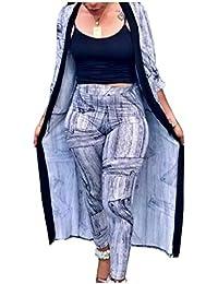 Kankanluck 婦人模様の2つの部分秋のショールと鉛筆パンツ服装