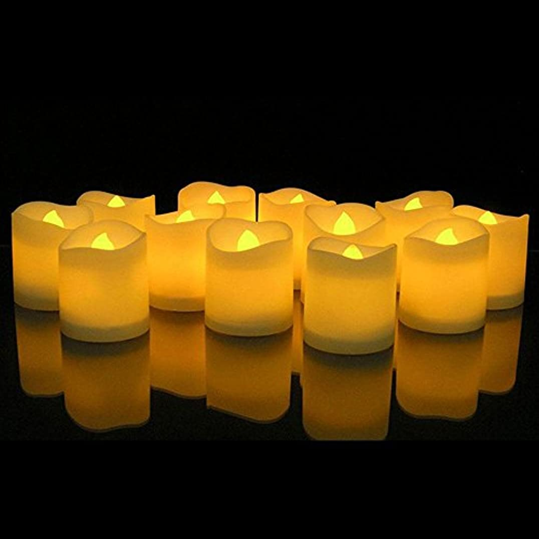 歩行者活気づける見通しKOBWA Flickering Flameless Candles LED Tealight Candles-Pack of 12-Beautiful and Elegant Unscented LED Candles