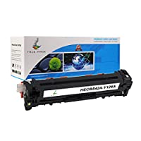 TRUE IMAGE HECB542A-Y125A Compatible Toner Cartridge Replacement for HP CB542A (Yellow) by TRUE IMAGE