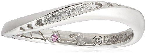 [해외][블룸] BLOOM 디즈니 9 월 탄생석 핑크 사파이어 실버 플래티넘 도금 페어링 여성/[Bloom] BLOOM Disney September birthstone pink sapphire silver platinum plating pairing ladies