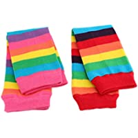 Baby Kids Red Pink Rainbow Stripe Leg Warmers Age 3 months up to 5 years old