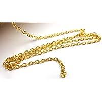 【HARU雑貨】ゴールド チェーン 1m 切り売り 幅約2.1mm アズキ ga01/小豆 金 アクセサリー パーツ