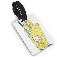 ラゲージタグ ネームタグ スーツケースタグ 荷物タグ 旅行タグ グリップ付き かわいい レモンスカッシュ 少女 出張 旅行 紛失防止