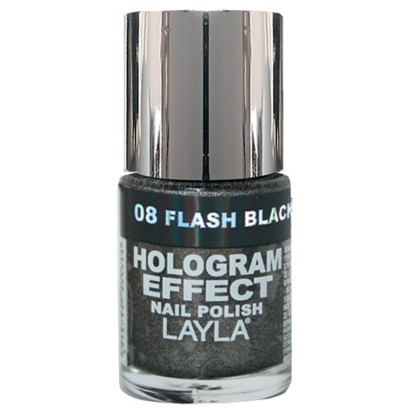作詞家経由で連隊Layla Cosmetics Hologram Effect Nail Polish Flash Black 10ml
