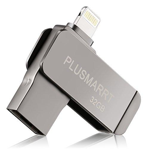 iPhone フラッシュドライブ USBメモリ 32gb iPad iPod touchの容量不足解消 「iOS/WindowsPC対応」 パスワード保護 回転式 超高速 日本語取扱説明書付き (亜鉛合金) (錆色)