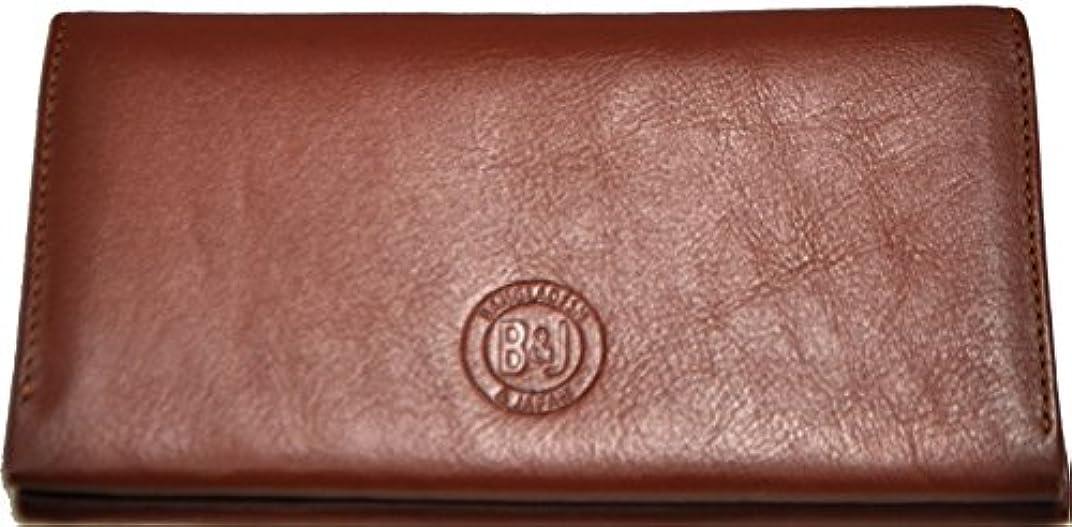 ランチ縞模様のびっくり本革長財布