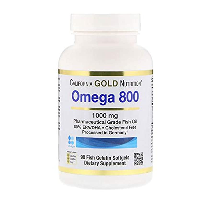 サンダー岸アナニバーCalifornia Gold Nutrition オメガ 800 80% EPA DHA 1000mg 90点【アメリカ直送】