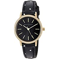 Armani Exchange Black Stainless Steel & Leather Watch AX5543