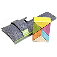 6 Piece Tegu Pocket Pouch Prism Magnetic Wooden Block Set
