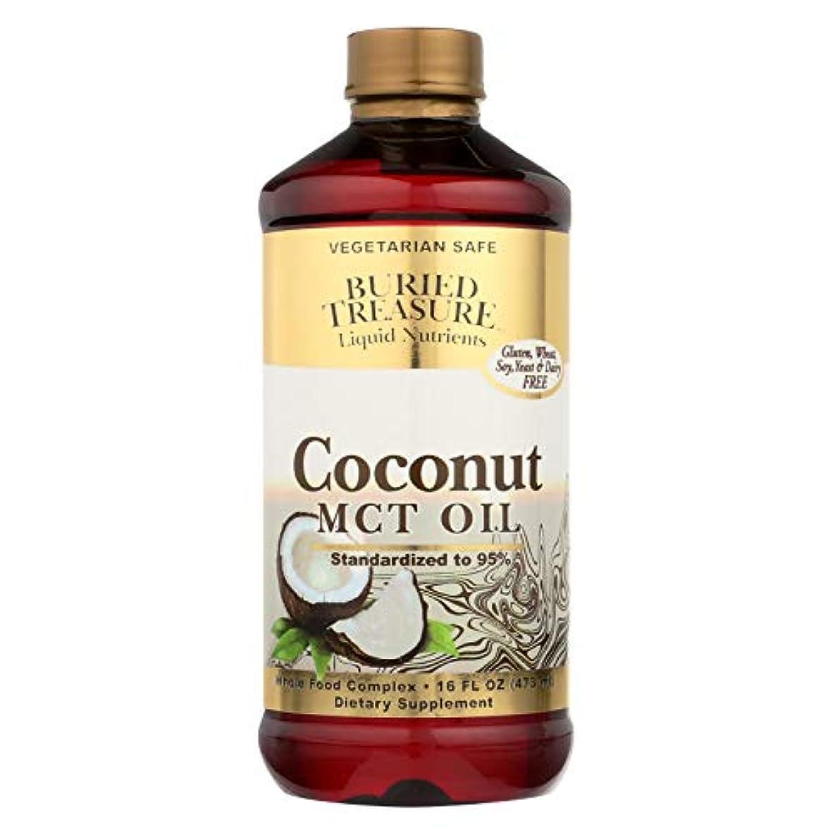 ミスキャンパスむしゃむしゃ海外直送品Coconut Oil MCT, 16 oz by Buried Treasure