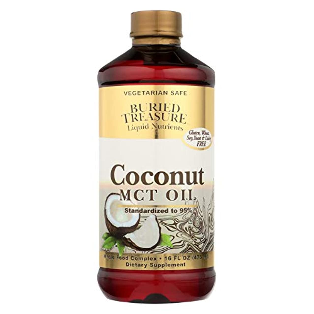 ヒープパトロン火山学海外直送品Coconut Oil MCT, 16 oz by Buried Treasure