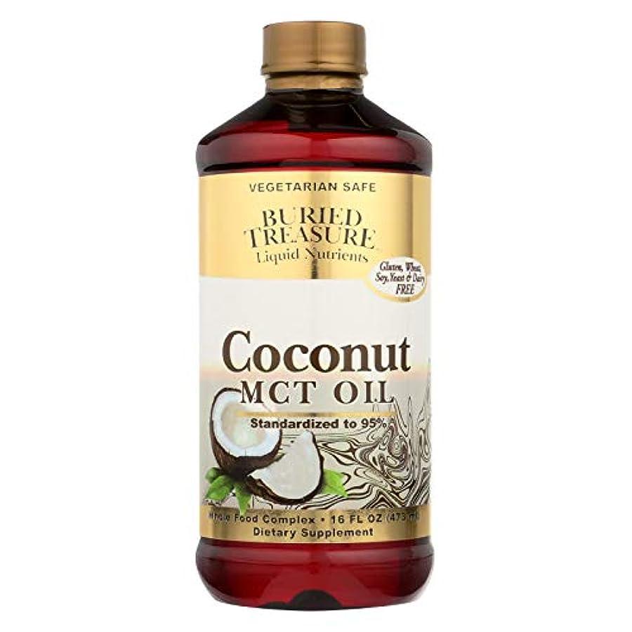 摩擦金銭的移植海外直送品Coconut Oil MCT, 16 oz by Buried Treasure