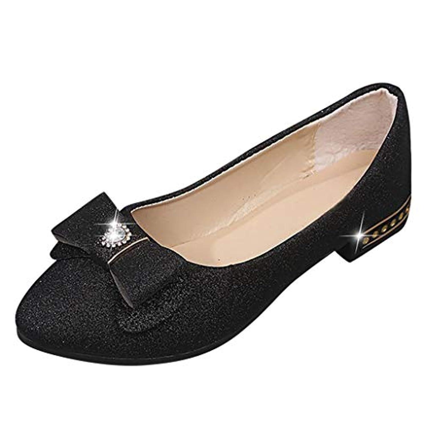 創傷タンパク質講師レディー ス フラットシューズTongdaxinxi 婦人向け ファッション カジュアル ソリッドバタフライノット フラットつま先 細い靴 本革 フラットシューズ サンダル 歩きやすい フラット 美脚サンダル