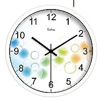 Juexianggou ファッションクリエイティブリビングルームサイレントウォールクロック/Europeantyleミニマリストアートウォールクロック/時計 装飾的な壁掛け時計 (Color : A, サイズ : 10inch)