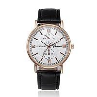 Xavigio 腕時計 メンズ クリアランス レトロデザイン レザーバンド アナログ合金 クォーツ腕時計 ビジネス レディース 腕時計 free ブラウン