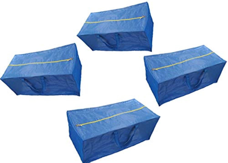 ファスナー付きストレージバッグ、Extra Large – ブルー – と互換性IKEA fratkaストレージバッグトロリー X-Large ブルー FBA_14195868