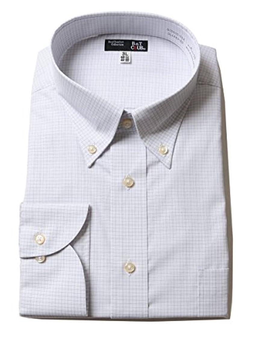 慎重余裕がある週末(ビーアンドティークラブ) B&T CLUB 大きいサイズ メンズ ボタンダウン 長袖 ワイシャツ E / 3L