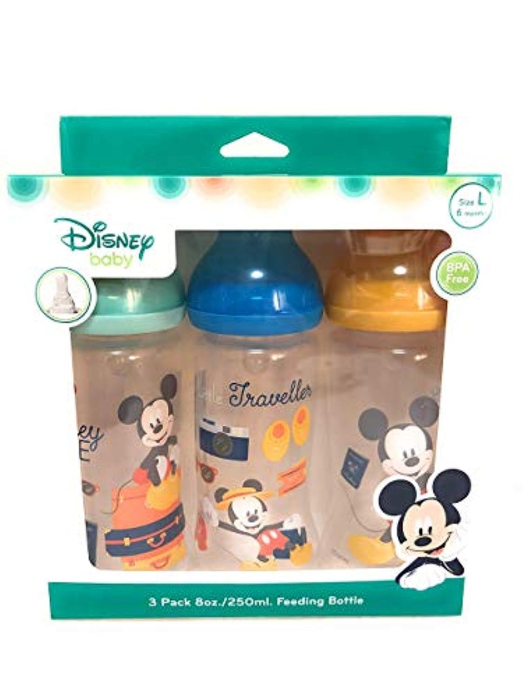 Disneybaby 哺乳瓶セット プラスチック製 ミッキーマウス 250ml [並行輸入品]