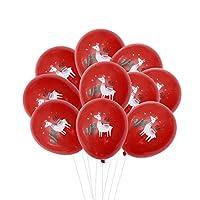 Tinksky ラマ サボテン柄 ラテックス風船 プリント ゴム バルーン 結婚式 誕生日パーティー 装飾 12インチ 10枚入(赤)