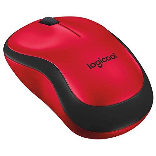 ロジクール 2.4GHzワイヤレス オプティカル静音マウス プラス レッドm221 QUIET PLUS Wireless Mouse M221RD