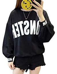BSCOOLレディース トレーナー パーカー ゆったり 長袖 クルーネック プルオーバー トップス 大きいサイズ ボリューム 着痩せ 韓国ファッション ストリート