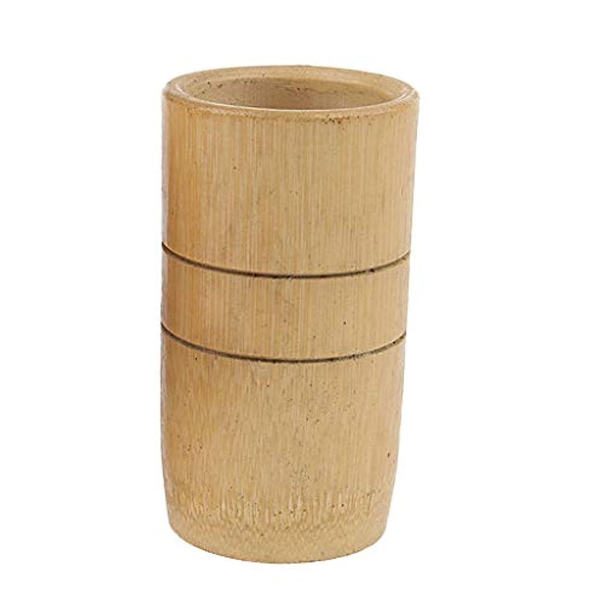で出来ているファブリック平行sharprepublic マッサージ吸い玉 カッピングカップ 天然竹製 サロン 家庭用 2個入