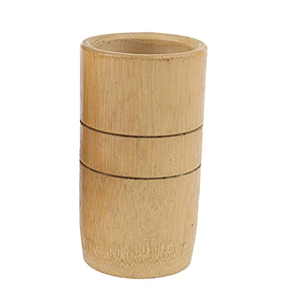 技術的な裁判官エスカレートマッサージカップ 吸い玉 カッピング 天然竹製 男女兼用 2個入