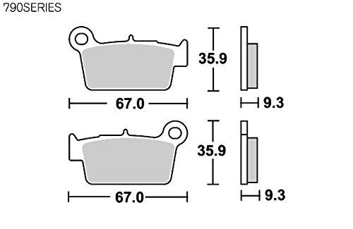 SBS ブレーキパッド 790SI シンターメタル WR250X WR250R WR450F RM-Z250 RM-Z450 KX250F KX450F アプリリア ベータ ビモータ フサベル シェルコ TM 等 777-0790070